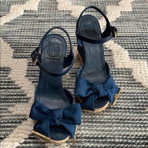 Tory Burch blue shoes